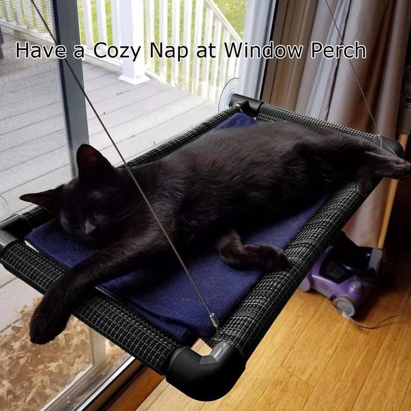 猫咪吊床玻璃窗台式单层双层猫吊床挂床吸盘式猫窝晒太阳猫咪床