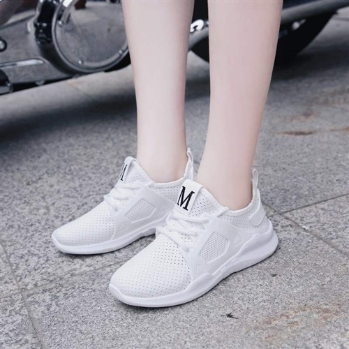 New mesh shoes womens breathable mesh walking black lazy net face summer light mom shoes low top shoes