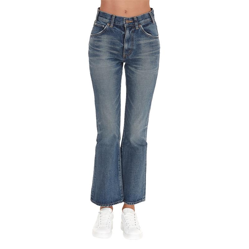 正品CELINE/赛琳牛仔喇叭裤女士新款棉质休闲时尚修身长裤女裤
