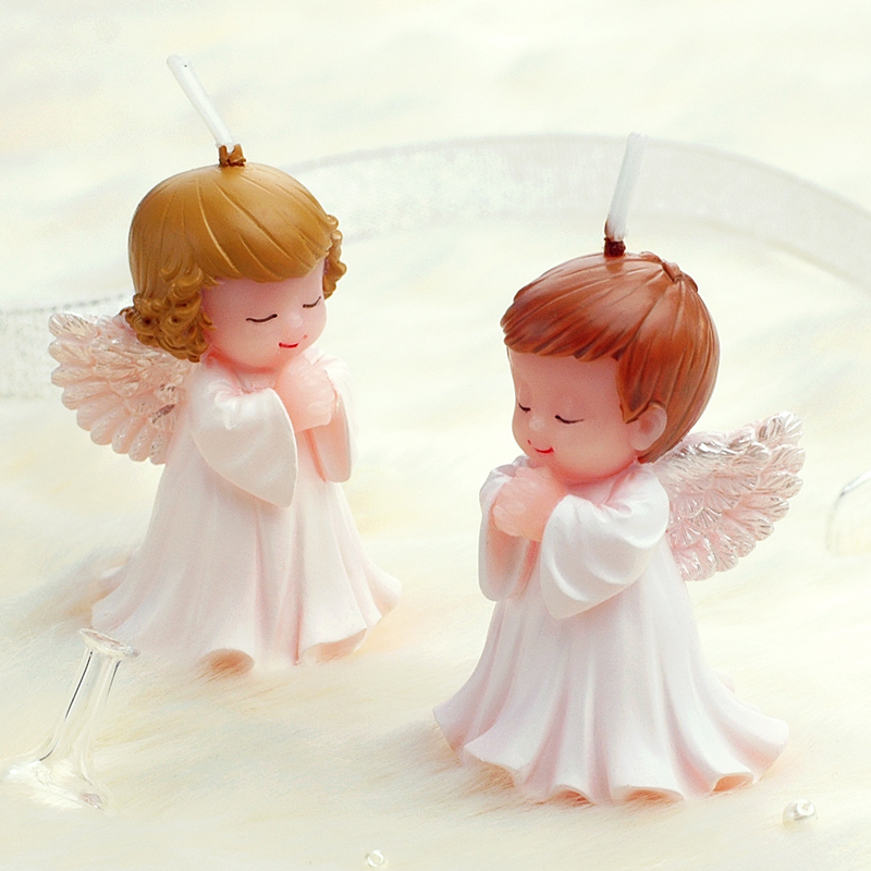 Children's party products birthday gifts creative birthday candles smokeless candles Angel Baby craft candles