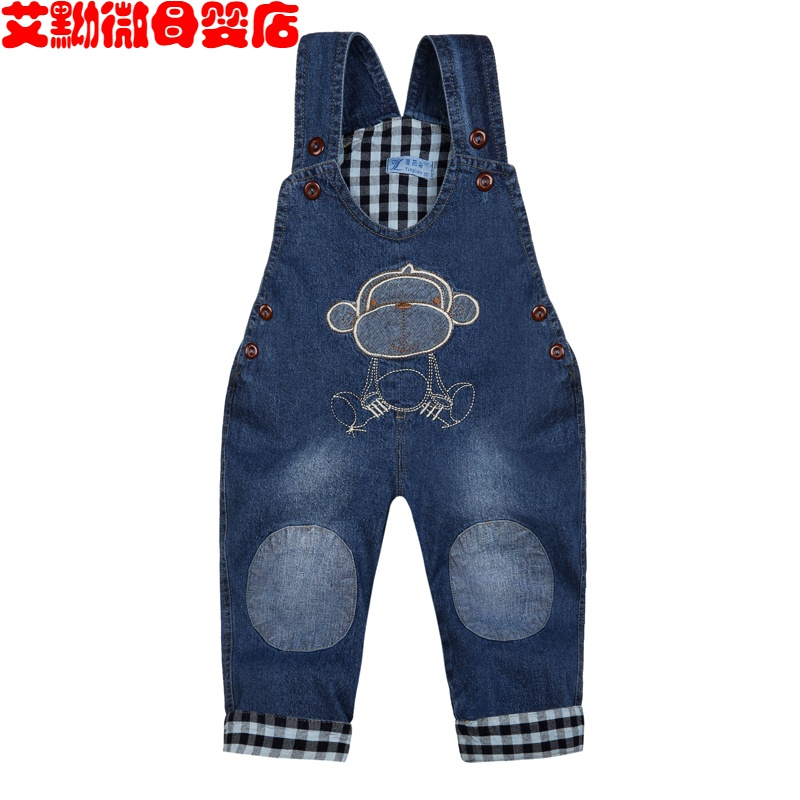 Baby pants jeans boys and girls Jumpsuit baby pants spring and autumn children 1-2-3 years old