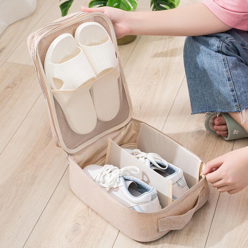 旅行鞋子收纳鞋袋多功能便携鞋套防尘袋子鞋盒鞋包行李箱装鞋神器