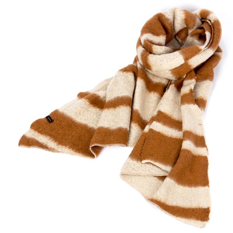 Autumn and winter fashion casual stripe cashmere knitted wool scarf for women long decorative warm multifunctional neck
