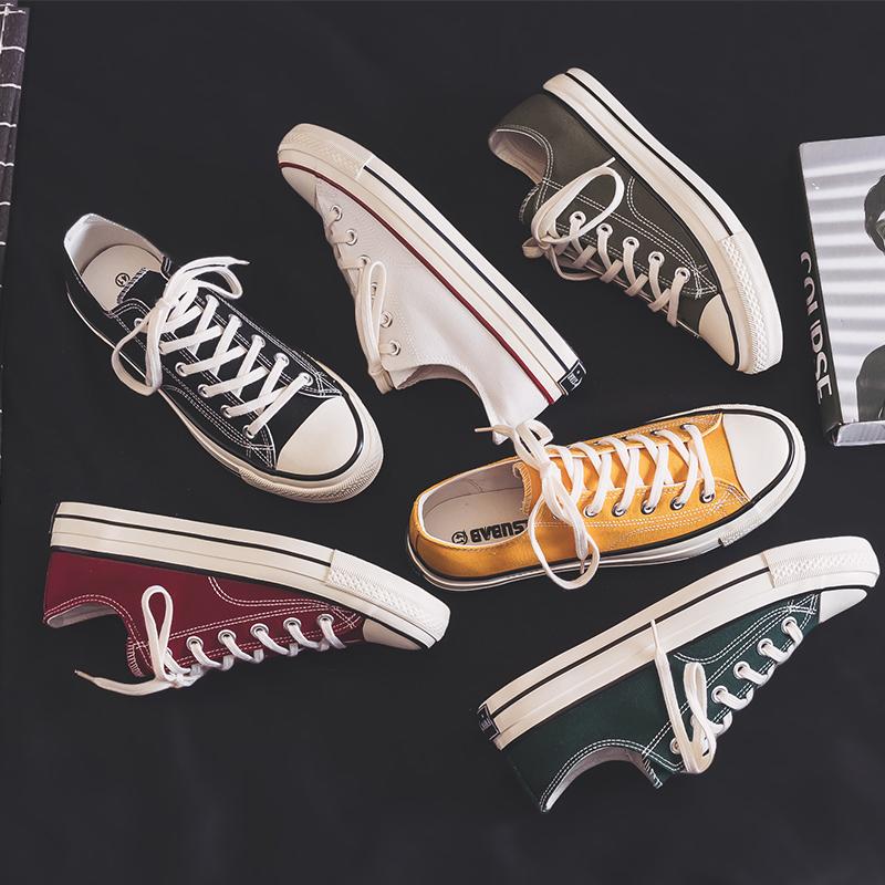 Fashion shoes, canvas shoes, male students, Korean versatile couples new leisure shoes, cloth shoes, flat shoes, small white shoes
