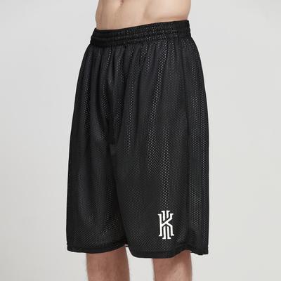 双层网眼篮球裤夏运动宽松大码透气训练五分裤过膝跑步健身短裤男