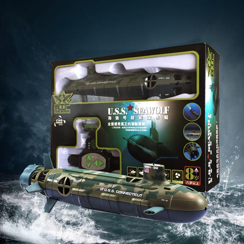 热卖美国核潜艇海狼号遥控船潜水艇儿童电动玩具船模男仿真军舰