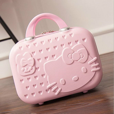 ase Cosmetic Bag Lockable Jewelry Box for Ladys Gift Pink Vs