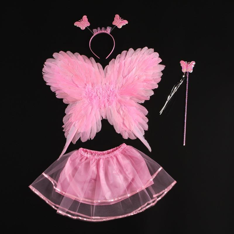 Costumes, ornaments, role decorations, dancing childrens performance costumes acting as men and womens white props butterfly wings personality