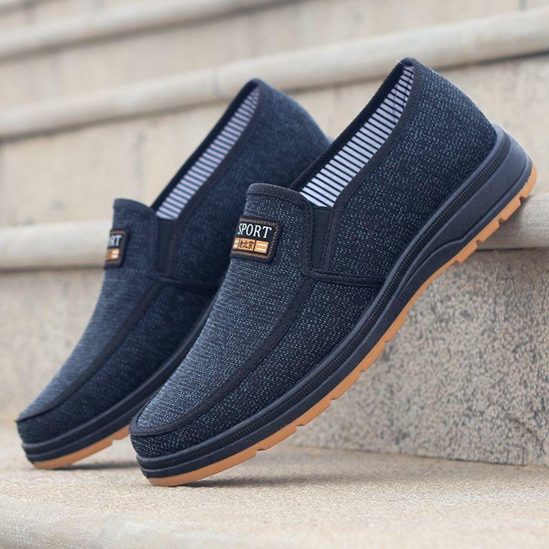 男一脚蹬爸爸鞋老北京透气防滑单鞋