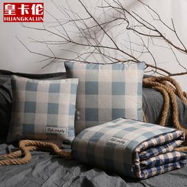 全棉汽车抱枕被子两用沙发午睡枕床头靠垫被办公室折叠被冬季加厚