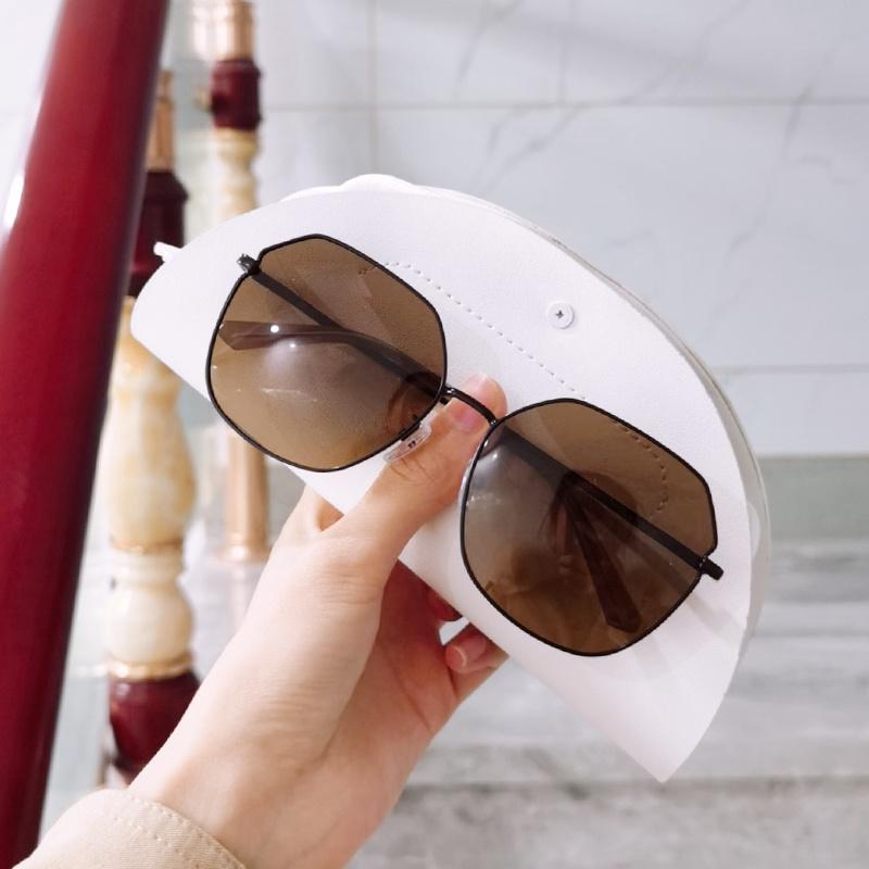 。 Myopia trend u-flow anti GRADIENT SUNGLASSES thin round face polarized face large Sunglasses 2021 womens new purple