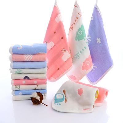 儿童手帕新生幼儿超软婴儿口水巾纯棉纱布毛巾宝宝用品婴儿毛巾