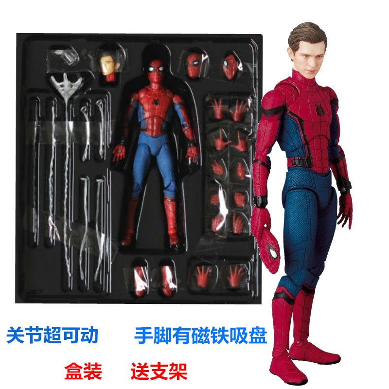 蜘蛛侠玩具可动人偶联盟英雄归钢铁手办模型荷兰弟公仔关节
