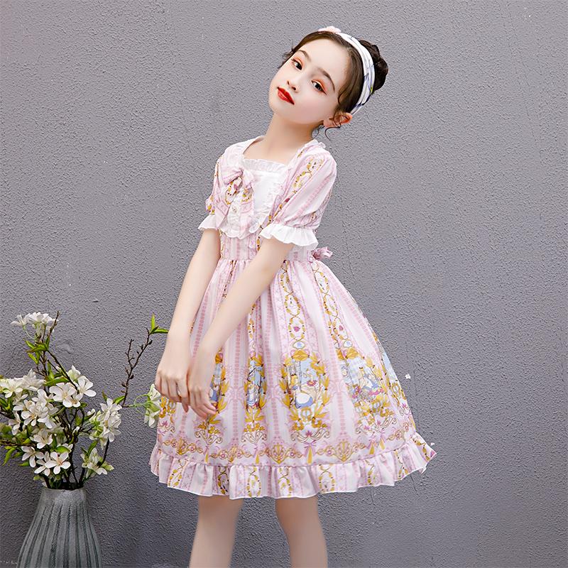 童连衣裙2021夏装新款儿童洋气小女孩夏季洛丽塔洋装公主裙子