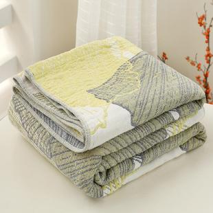 莎舍四层纯棉纱布夏凉被夏季单双人全棉毛巾被盖毯床单空调被宿舍