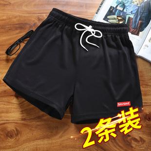 三分短裤男潮运动夏季男士跑步速干健身3分超短裤宽松休闲沙滩裤