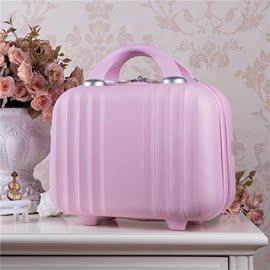 可爱化妆箱女孩手提拎包旅行收纳小号14寸大容量结婚子母13小箱子图片