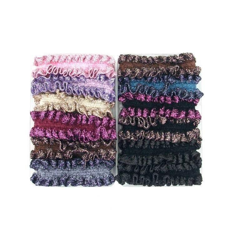 包邮整盒12条装蕾丝宽花边布艺发圈