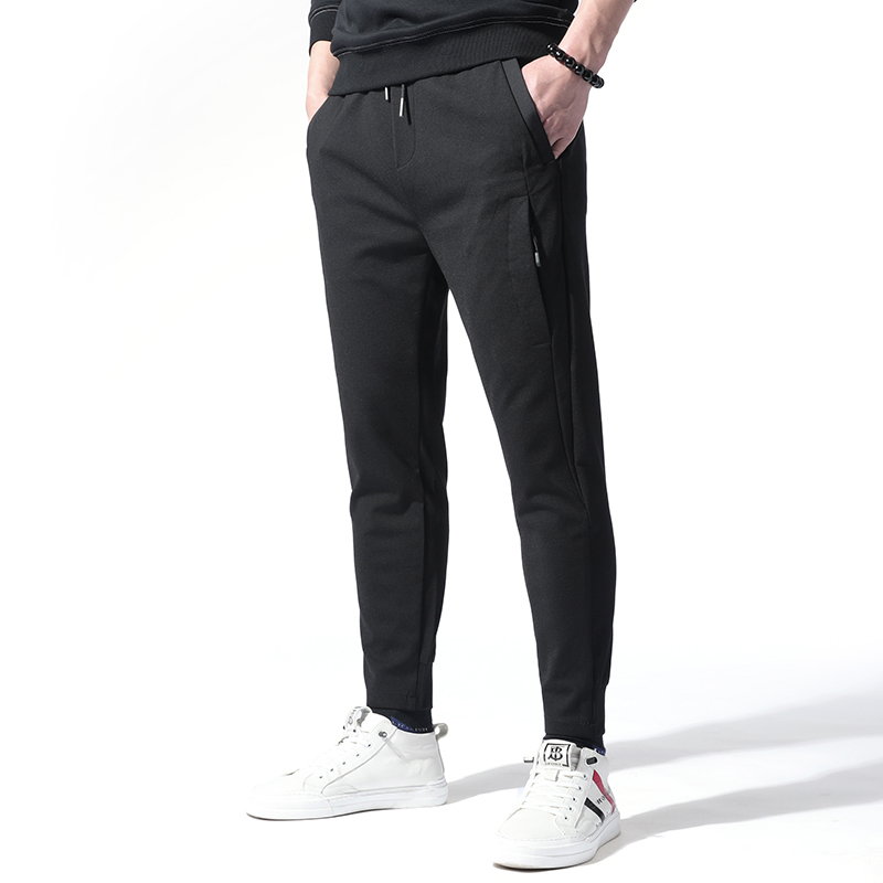 New spring and autumn casual pants mens slim fit Korean fashion pants boys legged Capris elastic pants trend