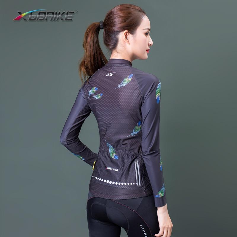 正品[XGBAIKE]高级自行车健身骑行服 升级反光运动衫 春夏薄款女