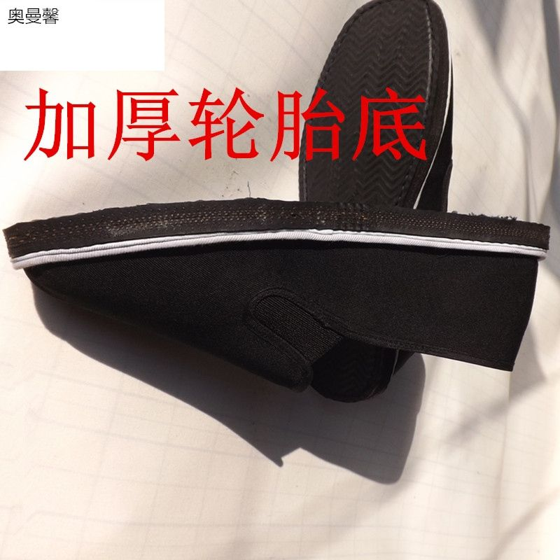 Square head thickened mens low top cloth sole cloth shoes thickened driving shoes tire shoes special Lefu shoes tire sole