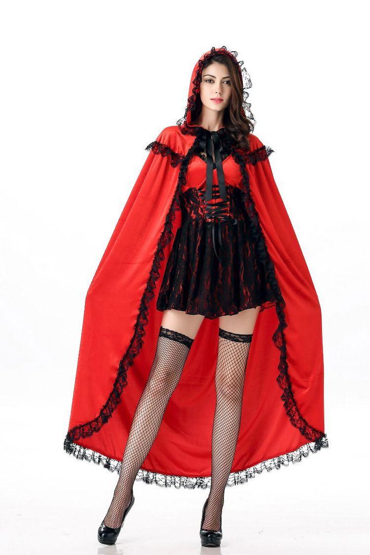 万圣节服装动漫小红帽角色扮演cosplay白雪公主裙表演演出服女