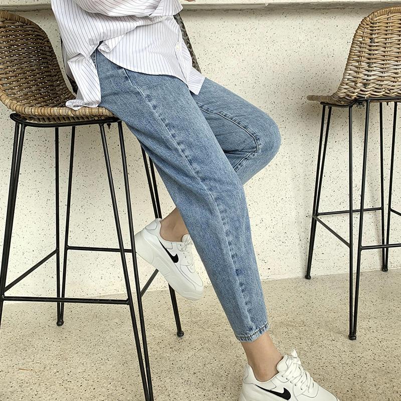 孕妇牛仔裤子女春秋季宽松休闲裤春夏薄款时尚外穿潮妈小脚打底裤