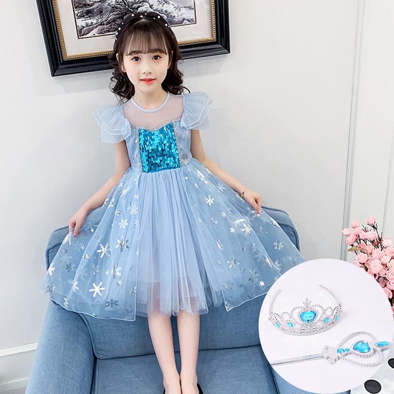 女童连衣裙夏装2020新款韩版洋气童装小女孩休闲裙中大童公主裙子