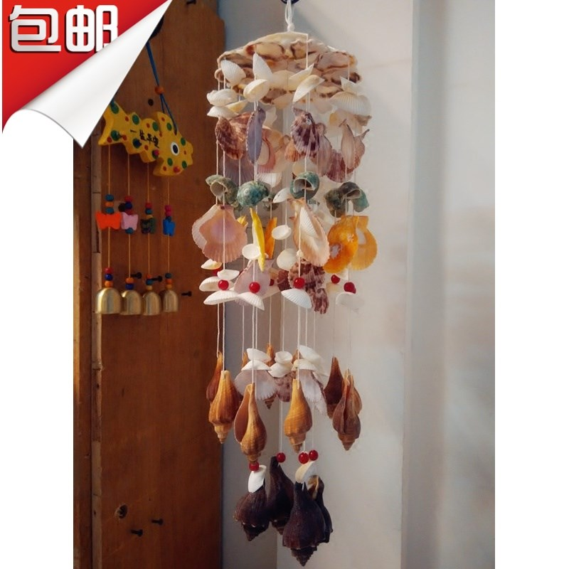 。 20 optional natural conch shell wind chime creative Valentines day birthday gift home hanging bag