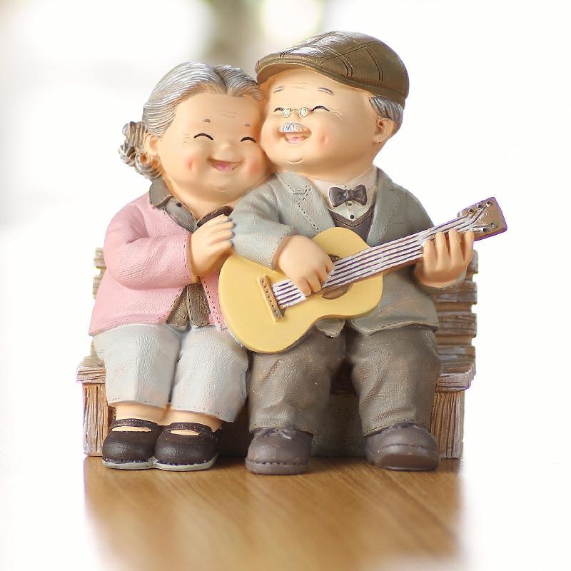墙上置物架装饰品小摆件老人结婚纪念日新房新婚夫妇礼-老人礼品(晶炫家居专营店仅售55.44元)