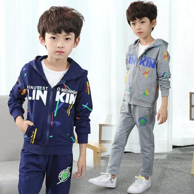 童装男童秋装套装儿童洋气男孩运动休闲中大童帅气两件套秋韩版潮