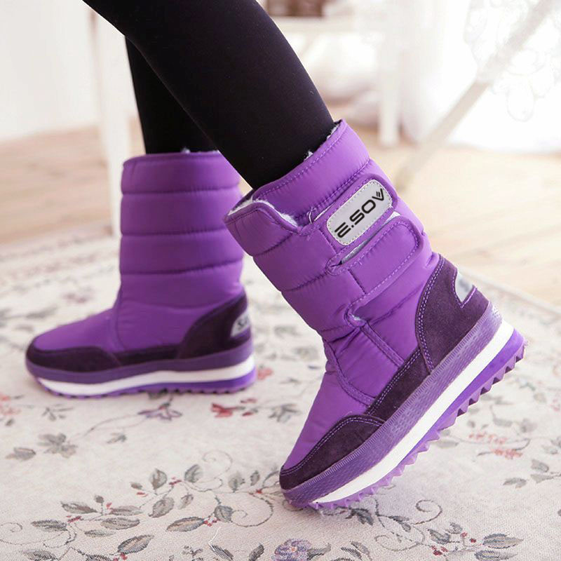 Waterproof womens shoes short boots snow cotton boots snow boots high boots snow shoes boots middle boots womens winter