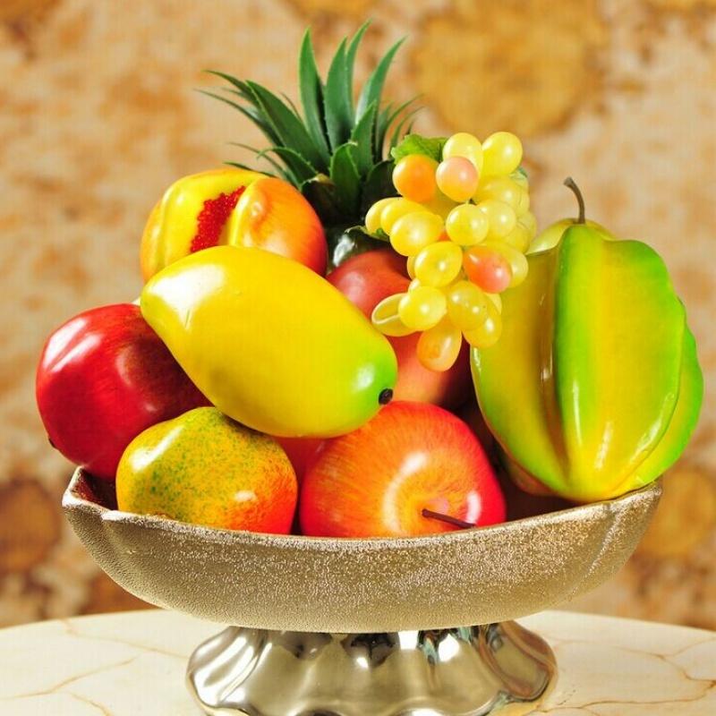 仿真水果蔬菜套装家居装饰品摄影塑料道具假水果模型幼儿园玩具