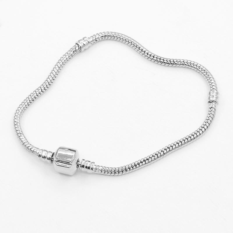 蛇链打结手饰 搭配大孔珠子 配件手链 钢色蛇骨链