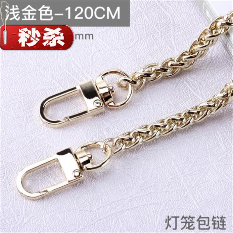Messenger bag chain bag womens bag with one shoulder chain straddle new fashion metal detachable shoulder chain