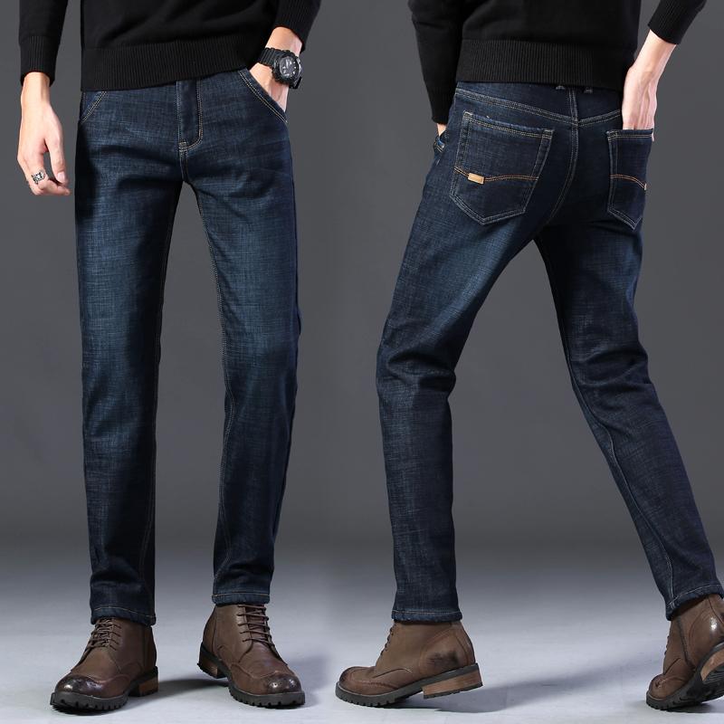 牛仔裤春季男士直筒裤大码修身青年工装裤