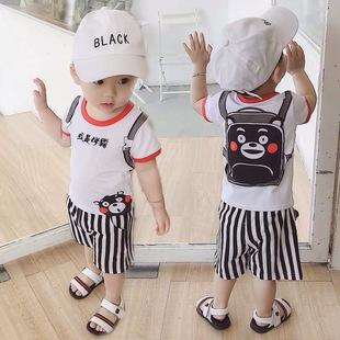 儿童男童套装0-2-3-4岁宝宝婴儿夏季衣服帅气小童短袖短裤两件套1