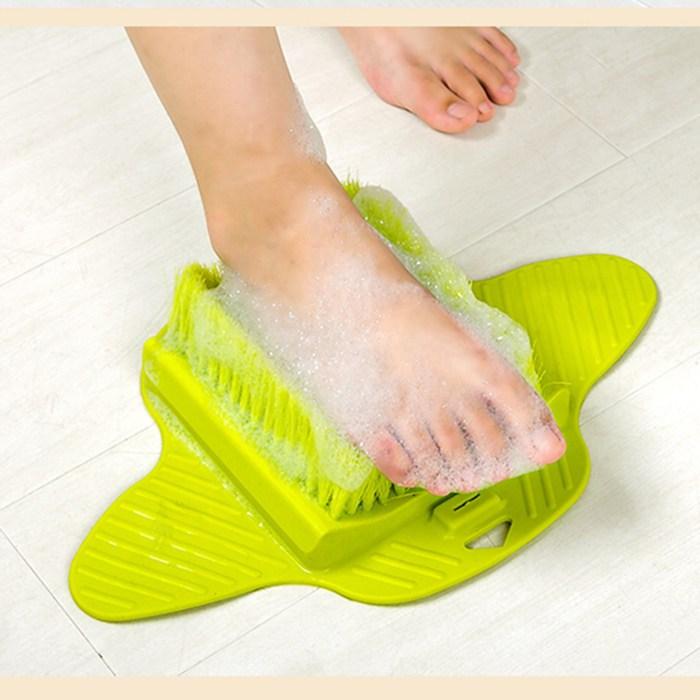 地贴式洗脚刷洗脚穿鞋神器洗脚刷子洗脚神器懒人拖鞋磨脚器搓脚板