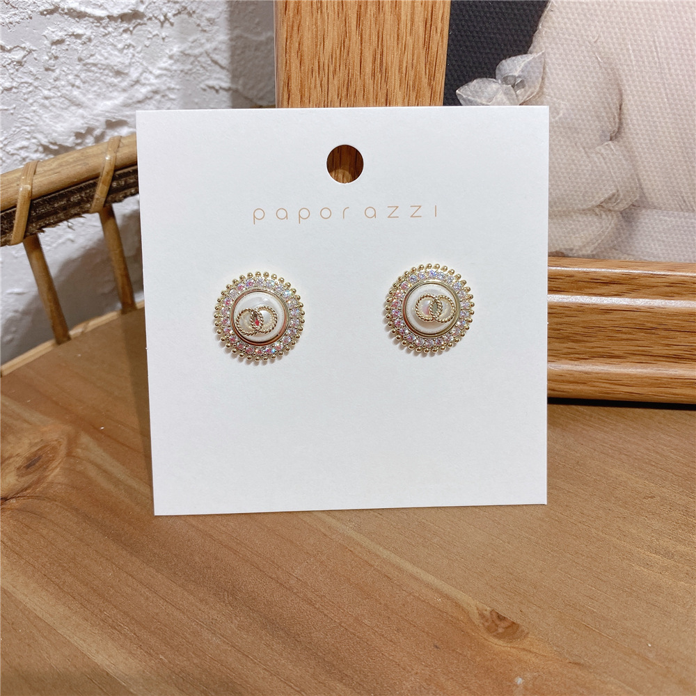 Original small fresh pearl Zircon Earrings 925 silver needle with all kinds of exquisite Korean version East Gate temperament Earrings female