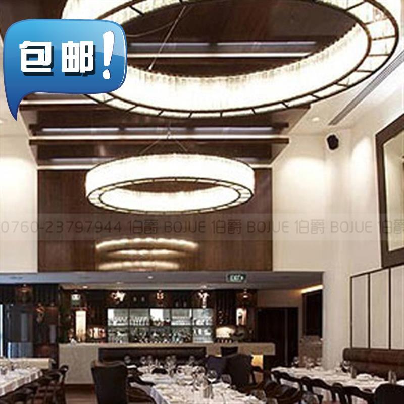 酒店水晶吊灯大厅圆形简约现代宴会厅会所沙盘售楼o部美式工程灯