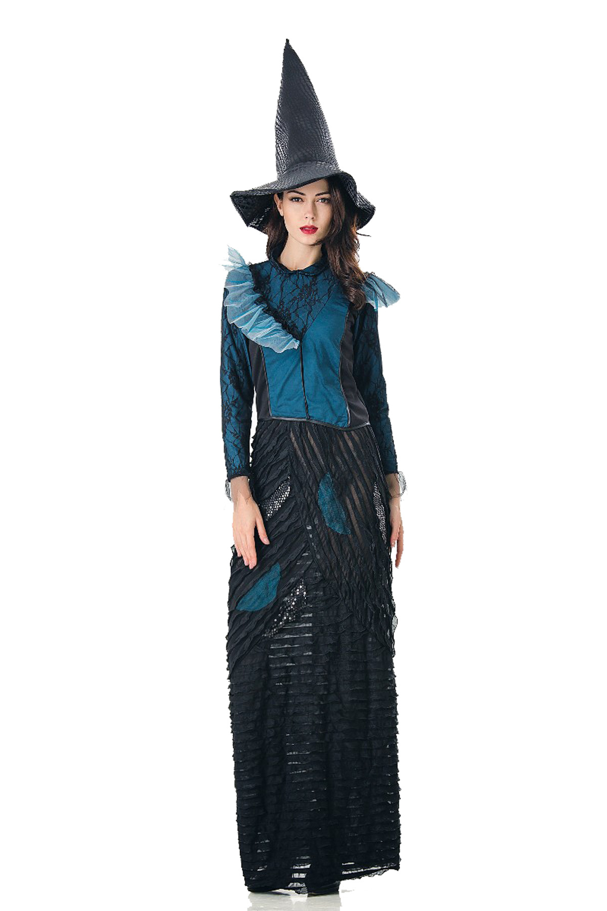 Wizard costume adult role play costume cos Witch Costume long classic female costume