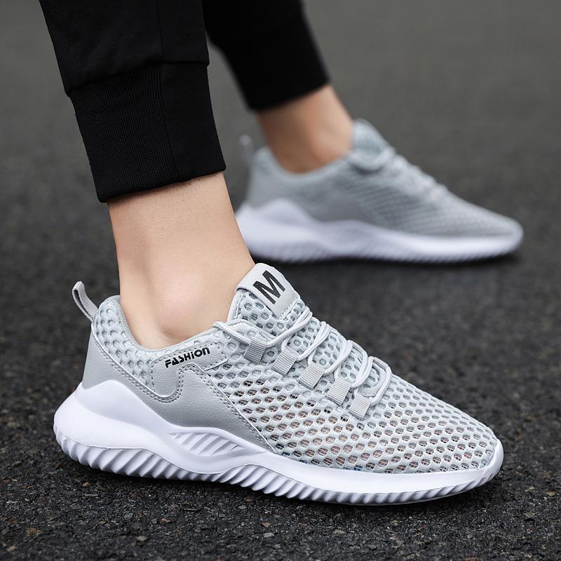 卡登克男鞋2020夏透气网鞋休闲运动潮鞋韩版潮流大码跑步运动板鞋图片