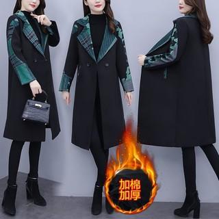 特大码女装胖妹妹外套风衣秋冬装2020年新款240斤200胖mm毛呢大衣