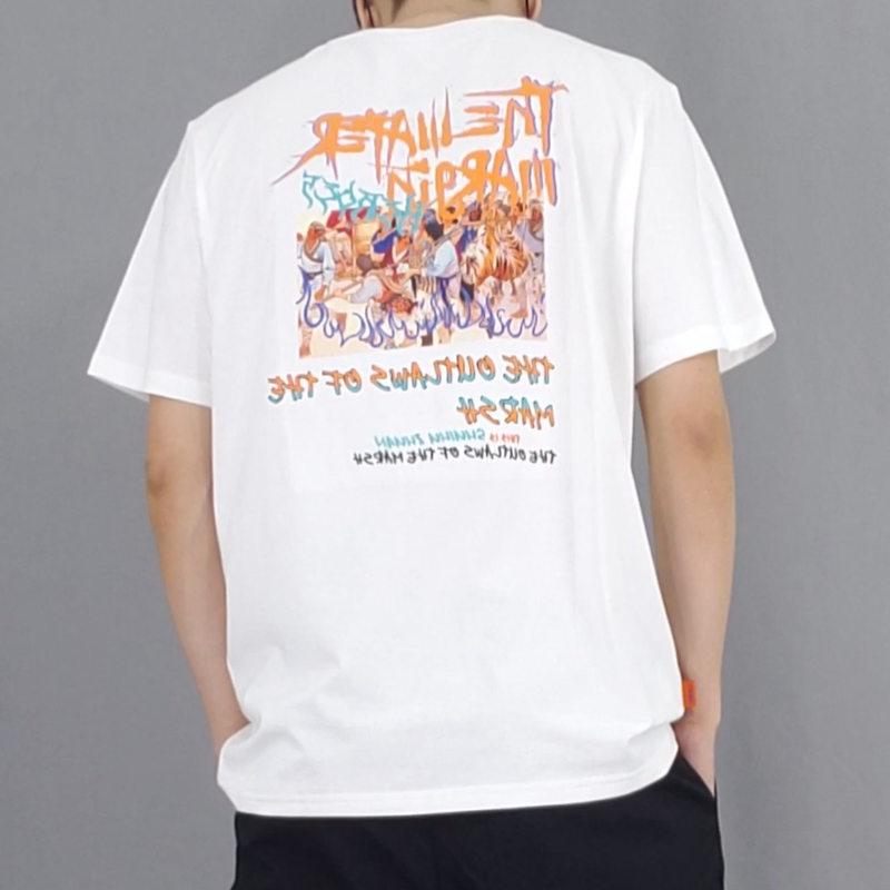 Summer handsome fashion brand letter printed short sleeve t-shirt mens Korean ins versatile half sleeve fashion round neck T-shirt