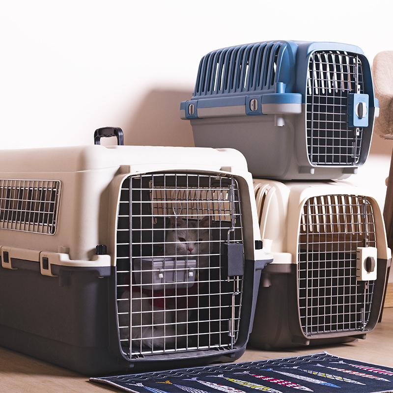 中国航空のペットの航空箱の猫の犬の飛行機の託送のiata車載の犬のかごの猫の箱の外出する旅行箱