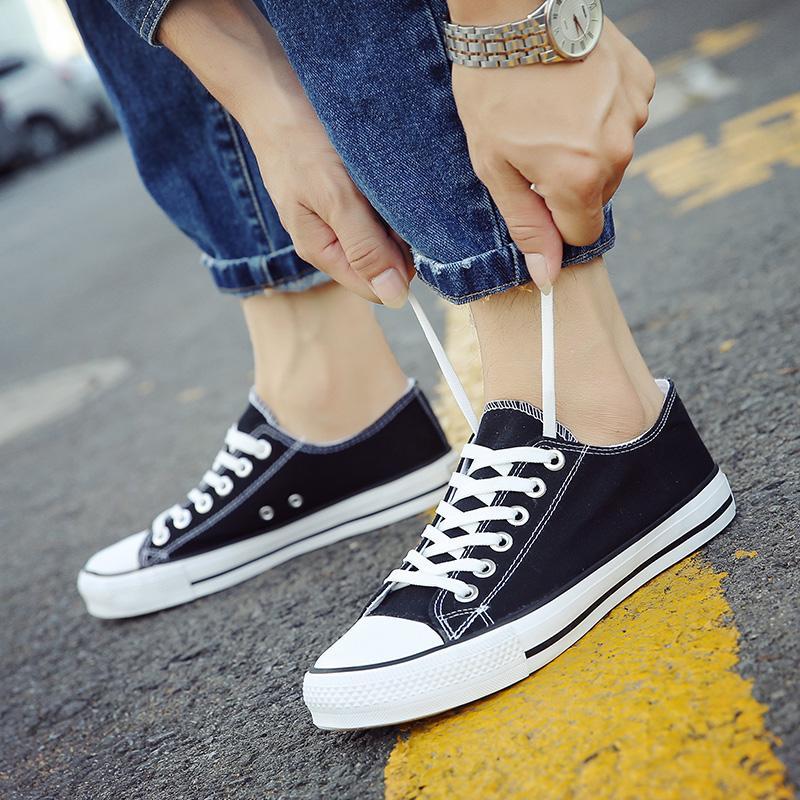 夏装男式体闲布鞋休闲蓝色帆布鞋薄底低帮悠闲板鞋男土步行鞋灰色
