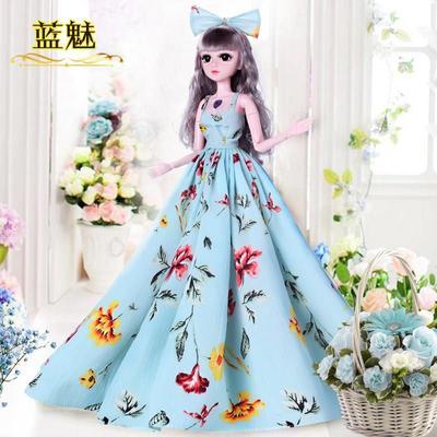 60厘米3分芭芘娃娃衣服古裝12宮廷皇后公主裙套裝