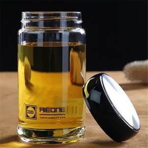 单层玻璃杯大肚泡茶杯加厚便携带盖办公防漏男女水杯子大容量定制