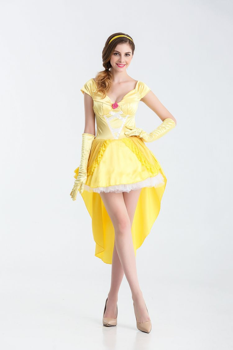 Halloween role play adult snow white dress Cinderella stage show cosplay costume