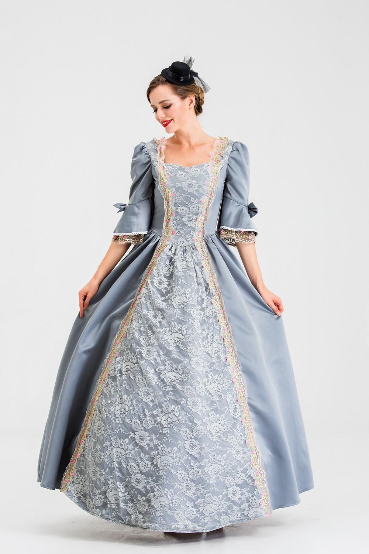 Witch Cosplay dress gorgeous Vampire Halloween medieval court dress Lolita gothic dress